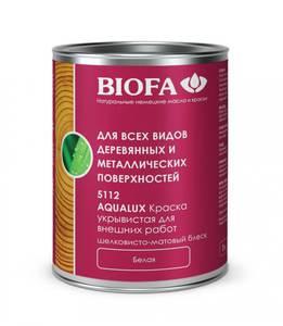 Biofa 5112 AQUALUX Краска для внешних работ, белая, глянцевая