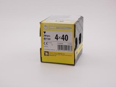 Саморез для дерева Rusconnect 4х40, потайная головка, (200 шт)