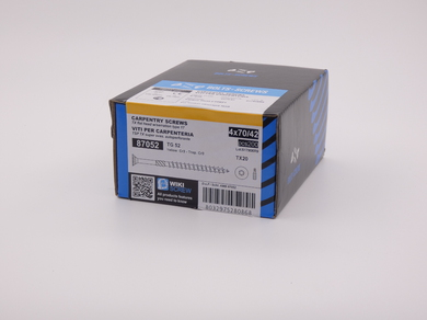 Саморез для дерева Rusconnect 4х70, потайная головка, (200 шт)