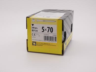 Саморез для дерева Rusconnect 5х70, потайная головка, (200 шт)