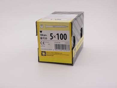 Саморез для дерева Rusconnect 5х100, потайная головка, (100 шт)