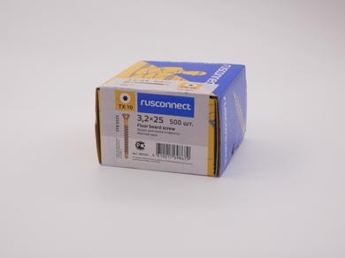 Саморез для пола и паркета Rusconnect 3,2х25, (500 шт)