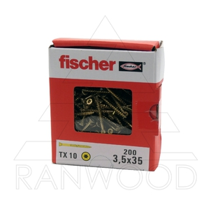 Саморез для напольных покрытий Fischer FTF-ST YZP, 3,5х35, (200 шт)