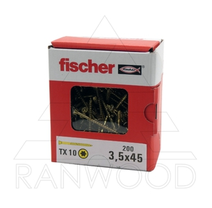 Саморез для напольных покрытий Fischer FTF-ST YZP, 3,5х45, (200 шт)