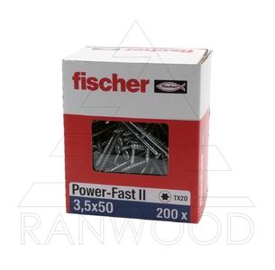 Шуруп Fischer FPF II CTP 3,5х50 ВС, с потайной головкой, (200 шт)