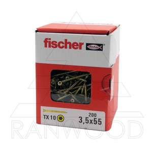 Саморез для напольных покрытий Fischer FTF-ST YZP, 3,5х55, (200 шт)