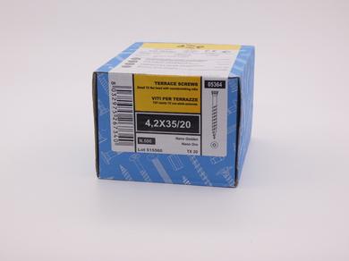 Саморез для террасной доски Rusconnect Nano 4,2х35, уменьшенная потайная головка, (500 шт)