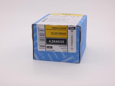 Саморез для террасной доски Rusconnect Nano 4,2х45, уменьшенная потайная головка, (500 шт)