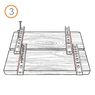 Крепеж для планкена RanFix POWER 190мм. со стопором (усиленный)