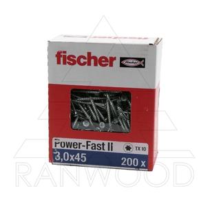 Шуруп Fischer FPF II CTP 3,0х45 ВС, с потайной головкой, (200 шт)