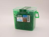 Саморезы для фасада Spax 4,5х60, двойная резьба, линзовая головка (400 шт), антик
