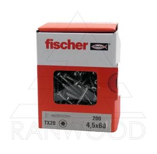 Шуруп для фасада Fischer FFSII-RT6 4,5х60, (300 шт)