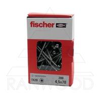 Шуруп Fischer FPF-ST A2P 4,5х70, с потайной головкой, (100 шт)