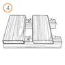 Крепеж для террасной доски RanFix POWER 145мм. без стопора (усиленный)