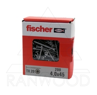 Шуруп Fischer FPF-ST A2P 4,0х45, с потайной головкой, (200 шт)
