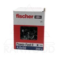 Шуруп Fischer FPF II CTP 4,0х50 ВС, с потайной головкой, (200 шт)