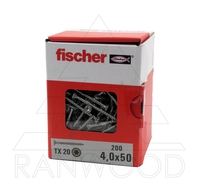 Шуруп Fischer FPF-ST A2P 4,0х50, с потайной головкой, (200 шт)