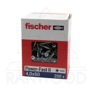 Шуруп Fischer FPF II CTP 4,0х60 ВС, с потайной головкой, (200 шт)