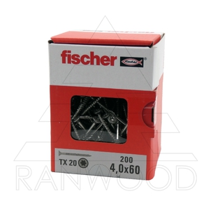 Шуруп Fischer FPF-ST A2P 4,0х60, с потайной головкой, (200 шт)