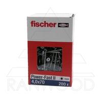 Шуруп Fischer FPF II CTP 4,0х70 ВС, с потайной головкой, (200 шт)
