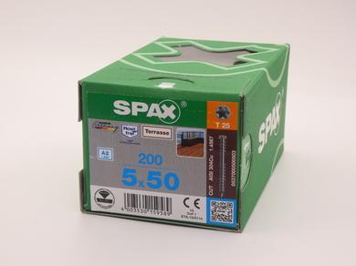 Саморезы для террасной доски Spax 5х50, цилиндрическая головка, (200 шт)