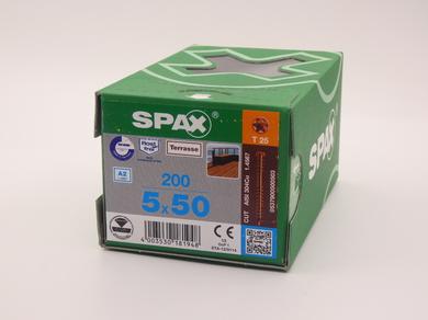 Саморезы для террасной доски Spax 5х50, цилиндрическая головка, (200 шт), антик