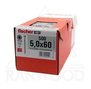 Шуруп для террас Fischer FTS-ST A2P 5,0х60, (500 шт)
