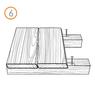 Крепеж RanFixПЛАСТИНАСтарт со стопором (крепеж для террасной и фасадной доски)