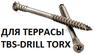 Саморез для террасной доски EuroTec TBS-Drill Seko 5,3х60, (100 шт)