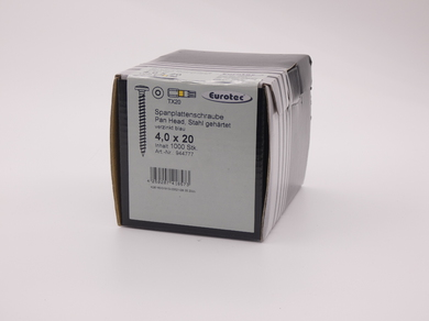 Саморез для ДСП EuroTec 4,0х20, полукруглая головка, (1000 шт)