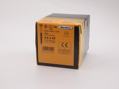 Саморез для террас и фасадов EuroTec 4,5х42, потайная головка, (250 шт)