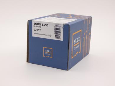 Саморез Rothoblaas для террасной и фасадной доски с потайной головкой SCHH 5х90 (100 шт.)
