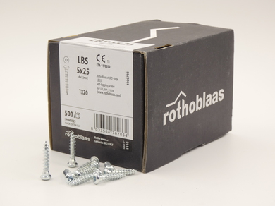 Саморез Rothoblaas для пластин с круглой головкой LBS 5х25 (500 шт.)
