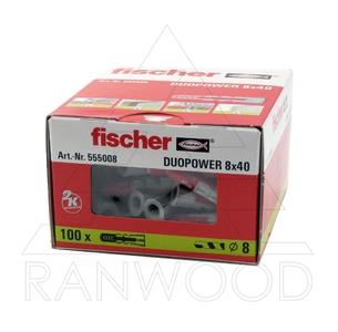 Дюбель Fischer Duopower 8x40 (100 шт)