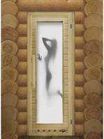 """Дверь для бани """"ЭЛИТ ЛЮКС ИСКУШЕНИЕ"""" с фотопечатью"""
