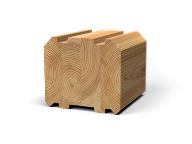 Клееный брус лиственница 80x80